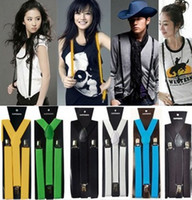 Wholesale Clip on Adjustable Unisex Mens Women Pants Fully Elastic Y back Suspender Braces