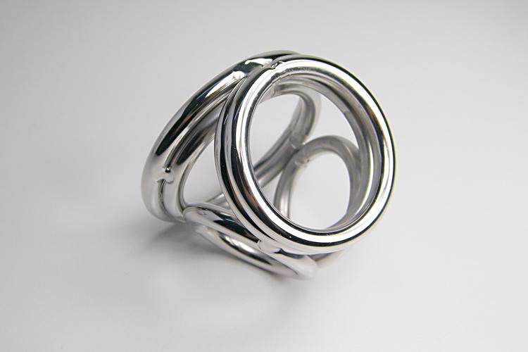 Newest Stainless Steel Four Rings Cock Ring Bondage Chastity Device Sex Supplies