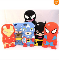 Cartoon Superhero Comics Soft Silicone Rubber Case For iPhon...