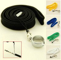 Wholesale Lanyard Neck Sling EGO Necklace Chain with a Ring for EGO eGo T eGo W eGo C Electronic Cigarette E cigarette