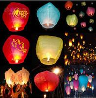 Sky Lantern Holiday  Chineses Lantern Sky Lantern Kongming Lantern Flying Wishing Lamp Wedding Party Paper Lights tx74