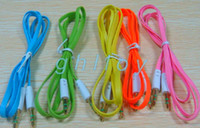 Wholesale Good quality coupon now mm to mm Colorful Car Aux audio Cable Extended Audio Headphone Stero Cable FACTORY