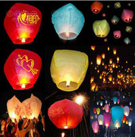 Sky Lantern Holiday  Chineses Lantern Sky Lantern Kongming Lantern Flying Wishing Lamp Wedding Party Paper Light 30pcs tx75