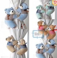 Wholesale Short plush teddy bear Curtain Accessory Holdback Tieback Holder Buckle
