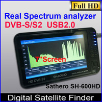 Wholesale Sathero Signal Digital Satellite Finder Meter HD Sat Finder SH HD with Spectrum Analyzer DVB S2 LCD USB2 HDMI Output
