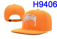 Wholesale EMS Free Newest Stussy Series snapback hats Stussy Stock Snapback Yellow caps Adjustable Hats snap backs mens H9406
