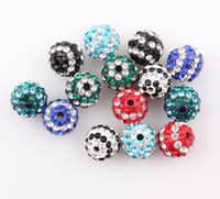 Precio de Mixed crystal beads-Mezcle el Color de 10mm de Shamballa Rayas Perlas Raya el Cristal de la Bola de Discoteca 20Pcs ZBE31 Envío Gratuito