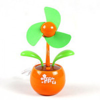 Wholesale Apple flower mini usb and battery fan freight free MOQ pc