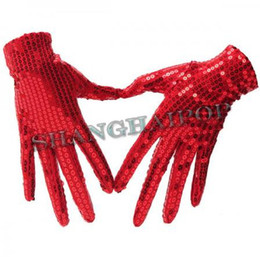 Wholesale Pair of Sequin Glove Dance Michael Jackson Billie Jean Fancy Dress
