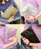Wholesale 4 New arrivals Sparkling Bling Sequin Clutch Purse Evening Party Handbag Bag