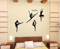ballet wall decals - 2016 New Ballet Dancers Taste of Life Wall Stickers Home Room Removable Vinyl Decals Black Decorations