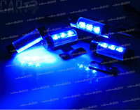 Wholesale 50sets LED Car Interior Light Charge V Glow blue Decorative in1 Atmosphere Lamp GX