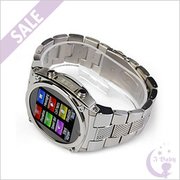 Wholesale Stainless Steel inch Touch Screen TW818 Watch Phone MP Hidden Camera G GSM Quad Band Single Sim Card Bluetooth JAVA FM Radio MP3 MP4