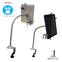 Wholesale lockable tablet PC mental stand holder arm mount with lock security compatible for to inch tablet iPad air Kindle Amazon e reader