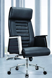 Wholesale Furniture Office Chairs Boss Chairs New High Back PU Upholstery Chrome PU Armrest Multifunction Mechanism Chrome Bases Aluminum Castors