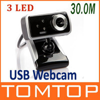 Wholesale USB M LED PC Camera HD Webcam Camera with MIC for Computer PC Laptop DHL C1462