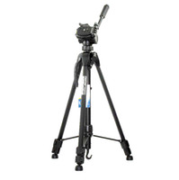Wholesale 60 inch mm Aluminum Alloy Tripod black color for brand Camera Camcorder and webcam retail pc