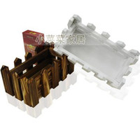 Wholesale Small basket rectangle basket small flower fence wooden box planters