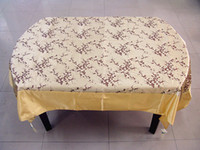 Wholesale Yellow Rectangular Damask Tablecloths Table Cover Vintage Wedding Table Cloth Holiday Decorative Tablecloth size L x W m Free