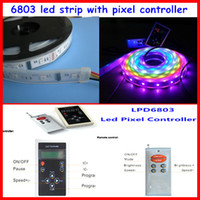 Wholesale 5set M roll IP67 tube IC RGB dream color magic Led Strip set pixel remote control control smd