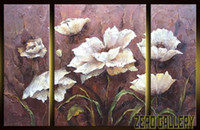 oil painting gallery - Beautiful pop textured OIL PAINTING ART Oil Paintings Home Hotel Bars Decorative wall flowers art gallery prints on canvas blucher