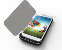 Direct Chargers apple rechargable battery - Power Case PU Leather Flip Cover Newest mAh Power Bank External Rechargable Backup Battery Charger Case For Galaxy Samsung S4 i9500