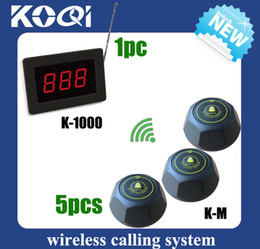 Wholesale 1 Set Wireless Calling Waiter Server Paging Service System for Restaurant DHL free