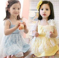 2y,3y,4y,5y,6y,7y Summer Sleeveless girls' dresses kids one-piece dresses outfits yarn dresses gallus blouses ball gown pettiskirts girls jumpers tops singlets Y478