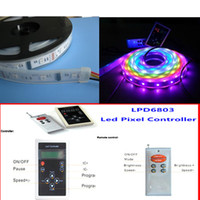 Wholesale 5M LED IP67 tube lpd6803 IC digital RGB dream color magic Led Strip With pixel remote control lpd6803 control
