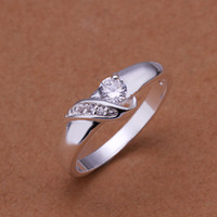 Wholesale 925 Sterling Silver Ring Zircon Silver Jewelry Ring Finger Rings Wedding Gift Top Quality SMTR202
