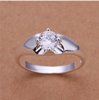 Wholesale 925 Sterling Silver Ring Zircon Silver Jewelry Ring Finger Rings Wedding Gift Top Quality SMTR203