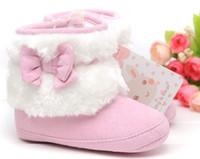(3-4M) 10 yards Boy Cotton 6%off!2015new arrival! 6pairs 12pcs High quality female bow boots in winte  cheap shoes  shoes sale baby girl shoes baby wear china shoes Y