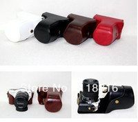 Wholesale camera case camera bag for Panasonic Lumix DMC GF3 GF3 mm lens Black White Brown Red