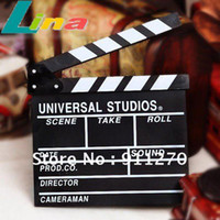 Wholesale TV Film Movie Clapperboard Wooden Message Slates Board Director Action Slate Clapper Scene Marker