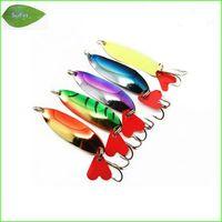 Wholesale Mix set Fishing Lure fishing spoon metal fishing lure bait spool
