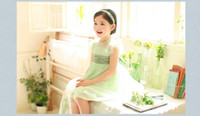 Summer New Fairy Dresses Fresh Children Clothes Tulle Sleeve...