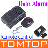 Wholesale Wireless IR Remote Control Micro Vibration Triggered Door Window Alarm freeshipping H4077