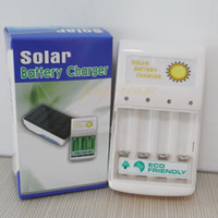 No Quick Release 4 pc Wholesale Lots100 Solar Battery Charger 0.5W 4 pc AA AAA GREEN POWER Solar Panel AAA, AA, C, D Battery Charger, camping ect