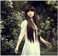 straight European Wigs Christmas 2013 New Cheap and Top Quanlity brown Stylish Lady Wavy Lace Wigs