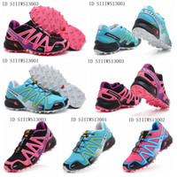 Wholesale Top quality newest Womens hiking shoes Salomon Speedcross CS Excellent grip performance and durability outdoor sports shoes