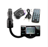 Wholesale New Sale Set Black Car MP3 Player Bluetooth Handsfree FM Transmitter