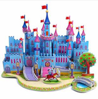 Building beautiful paper craft - Castle houses D Puzzle DIY Castles Models beautiful Building paper craft children Educational Toys d Jigsaw Kids Games t5385