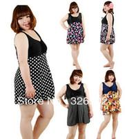 Wholesale hot Large plus size oversize swimwear one piece dress spring summer women s swimwear extra large XL XL