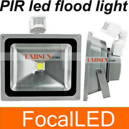 50w Pir Led Floodlight LED 90-100lm w PIR Flood Light Black shell Silvery Shell Freeshipping