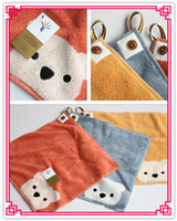 Wholesale P14 cm High Quality New Bear Bath Towel Cotton Cartoon Soft Face Hands Travel Towel Animal for Children Baby with Sling