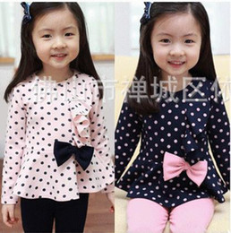 Wholesale 2013 New Arrival girls Autumn Cute Polka Dot pc Set girls Clothing Baby Casual Set Hot Sale