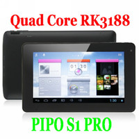 Wholesale cheap buy inch PIPO S1 PRO Android Tablet PC Quad Core Rockchip RK3188 GHz GB DDR3 RAM GB Dual Camera WiFi G Ebook MID