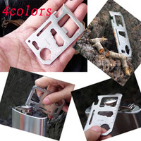 Cheap Color 11 function card Multi Tool Card Emergency Survival pocket Knife Knives with tracking number