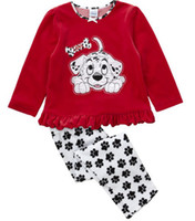 Wholesale dogs girls pajamas toddler suits kids sleepwear boys pyjama Sets Children s Pajamas tshirts underwear cotton tees shirts jumpers Z273