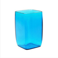 Wholesale Minimalist green cup colorful creative couple toothbrush cup Cups Plastic Cups